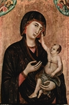 Mary with the child Jesus.