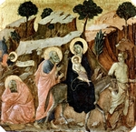 Flight into Egypt (Joseph's dream on the left).