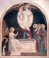 Women at the Empty Tomb.  Angelico, fra, approximately 1400-1455  Click to enter image viewer  Use the Save buttons below to save any of the available image sizes to your computer.