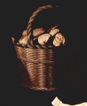 Basket of bread.