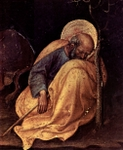 Adoration of the Three Kings, detail of Joseph at Rest.