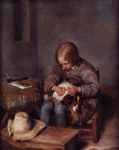 Boy with his Hound.