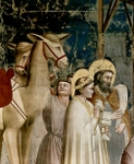 Three Magi Bearing Gifts.