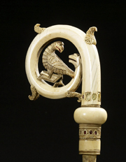 Crozier Head with the Eagle of Saint John.   Click to enter image viewer  Use the Save buttons below to save any of the available image sizes to your computer.