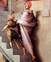 Joseph in Egypt, detail.