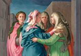 Visitation of Mary, detail.