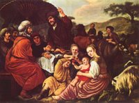 Moses Leaving Jethro.