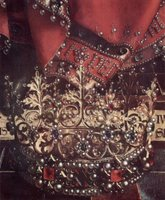 Altar of the Mystical Lamb - Throne of God the Father, detail of crown.