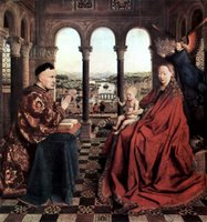 Madonna with Chancellor Nicholas Rolin.