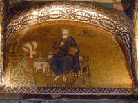 Mosaic from Kariye Camii showing Christ enthroned.