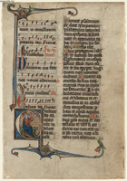 Leaf from a Breviary.