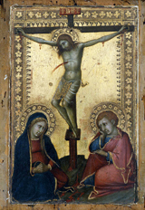 Crucified Christ with the Virgin and St. John the Evangelist.