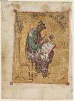 Saint Luke (cutting from a Greek Bible).