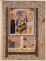 The Burial, Office of the Dead, (leaf from the Book of Hours).