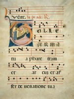 Leaf from an Antiphonary.