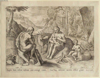 The First Parents, Eve Suckling Her Children.