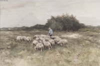 Landscape with Shepherd and Sheep.