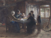 A Peasant Meal.