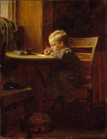 Writing to Father.