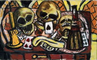 Still Life with Three Skulls.