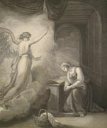 The Macklin Bible -- The Annunciation.