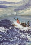 Jesus lulls the storm.