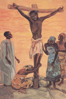 The Crucifixion; Jesus dies on the cross.