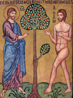 Creation - God Instructs Adam in the Garden.