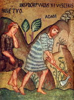 Creation - Adam and Eve Toil.