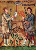 Cain and Abel Offer Sacrifices.