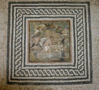 Roman floor mosaic.