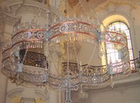 Chandelier in St. Nicholas Church, Old Town.