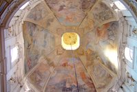 Ceiling of dome, St. Nicholas Church, Old Town.