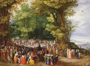 Sermon on the Mount.  Brueghel, Jan, 1568-1625  Click to enter image viewer  Use the Save buttons below to save any of the available image sizes to your computer.