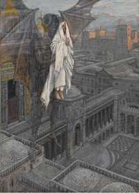 Jesus Carried up to a Pinnacle of the Temple.