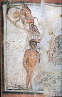Baptism - Catacomb of Peter and Marcellinus.