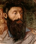 Detail of the head of an Israelite from fresco of The Crossing of the Red Sea.