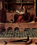 Jerome in his Study, detail.