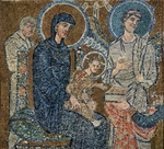 Adoration of the Three Wise Men, detail.