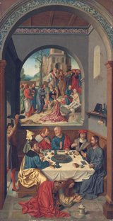 Mary Anoints Jesus' Feet.