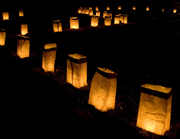 Luminarias along the path.  Hurst, Danae  Click to enter image viewer  Use the Save buttons below to save any of the available image sizes to your computer.