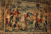 Tapestry of David slaying Goliath.   Click to enter image viewer  Use the Save buttons below to save any of the available image sizes to your computer.
