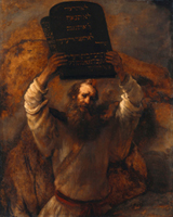 Moses with the Ten Commandments.