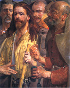 The Tribute Money.  Malczewski, Jacek, 1854-1929  Click to enter image viewer  Use the Save buttons below to save any of the available image sizes to your computer.