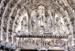 Chartres Cathedral; Coronation, Death and Assumption of the Virgin; tympanum and lintel, central portal, north transept.   Click to enter image viewer  Use the Save buttons below to save any of the available image sizes to your computer.