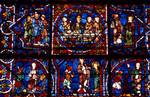 Chartres Cathedral; Jesus Christ; 'Notre Dame de la Belle Verriere' window, south-east interior.   Click to enter image viewer  Use the Save buttons below to save any of the available image sizes to your computer.