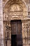 Chartres Cathedral; Seat of Wisdom, Liberal Arts; right portal, west facade.   Click to enter image viewer  Use the Save buttons below to save any of the available image sizes to your computer.