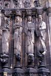 Senlis; Simeon, Jeremiah, Jacob (Isaiah), David; right embrasure, jamb figures, central portal, west facade.   Click to enter image viewer  Use the Save buttons below to save any of the available image sizes to your computer.