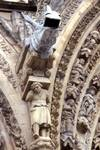 Reims; gargoyle between the central and the north portals, west facade.   Click to enter image viewer  Use the Save buttons below to save any of the available image sizes to your computer.