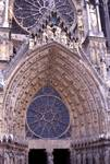 Reims; Coronation of the Virgin; central portal, west facade.   Click to enter image viewer  Use the Save buttons below to save any of the available image sizes to your computer.
